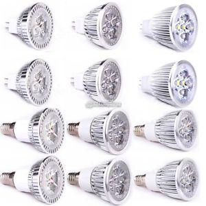 E14 LED Spotlight Lamp Spot Lumières Blanc chaud froid Ampoule