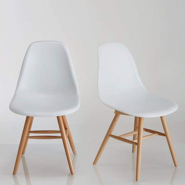 Chaise à coque plastique (lot de 2), jimi blanc Interieurs