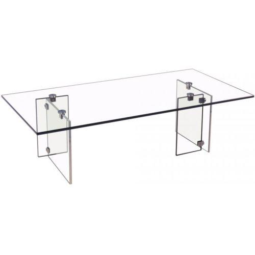 Declikdeco Table basse verre transparent trempé pas cher Achat