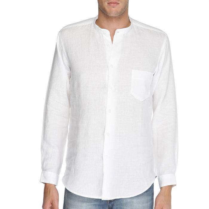 Chemise 100% Lin Bank Homme Achat / Vente chemise chemisette