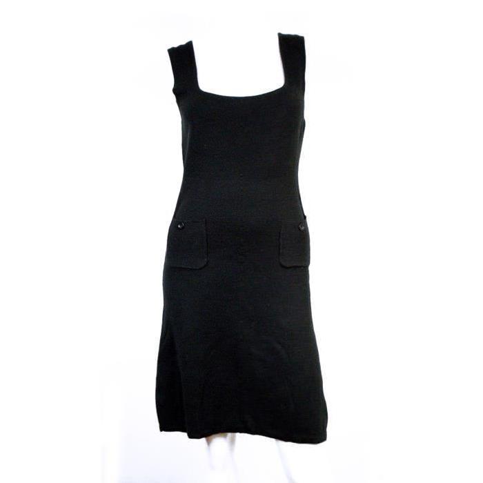 MANGO ? ROBE NOIRE EN LAINE T. 40 Noir Achat / Vente robe