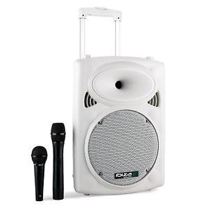 Pack Sono Portable PRO Ibiza Enceinte Bluetooth 25cm USB SD MP3 WMA 2X