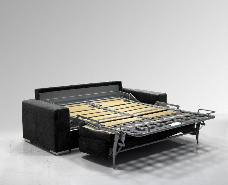 LE Diva Canapé Convertible Easy Rapido 160 200cm Microfibre Noire