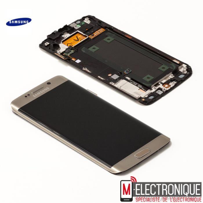 ECRAN LCD GOLD ORIGINAL SAMSUNG GALAXY S6 EDGE + G928 Achat ecran de