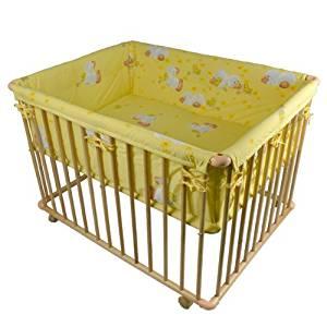 Honey Bee» Parc bébé de luxe parc enfant 100x75cm parc de bebe jaune