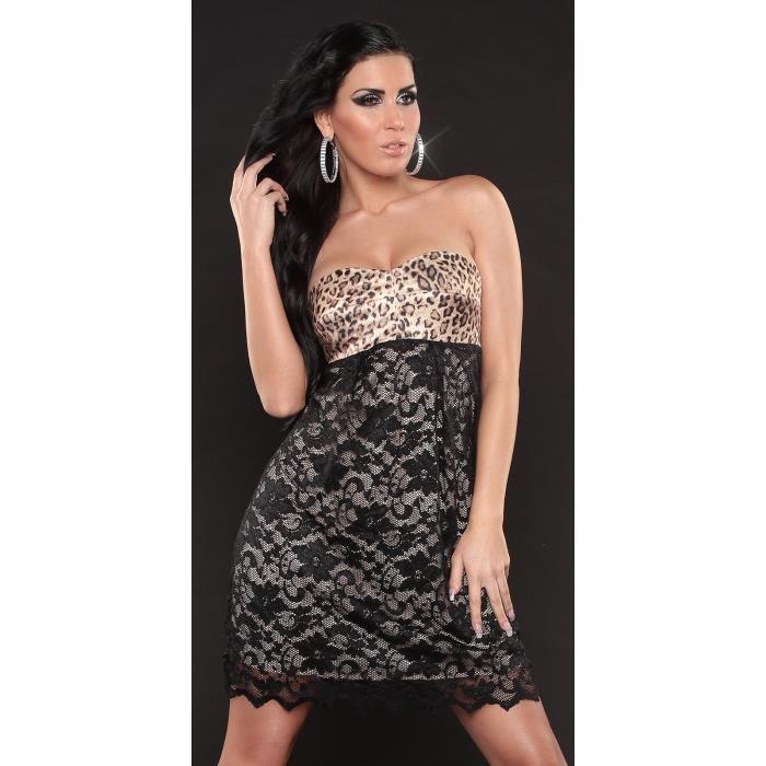 Sexy Courte Femme Glamour Bustier N noire Achat / Vente robe Robe