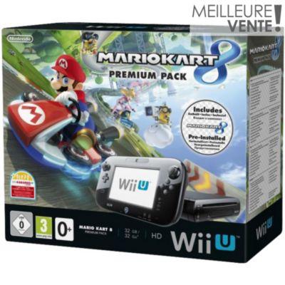 Console Wii U Nintendo Wii U 32Go Mario Kart 8 pré installé