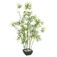 Plante artificielle Bambou hauteur 140cm Tige en véritable Bambou
