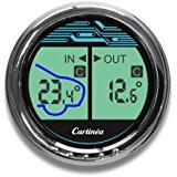 Horloge de Voiture In/Out Thermomètre Voltmètre