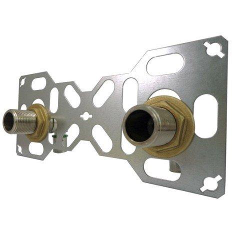 Kit fixation robinetterie douche ou bain à sertir laiton M 20 x 27