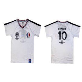 Maillot De Foot France Uefa Euro 2016 Officiel Enfant Blanc