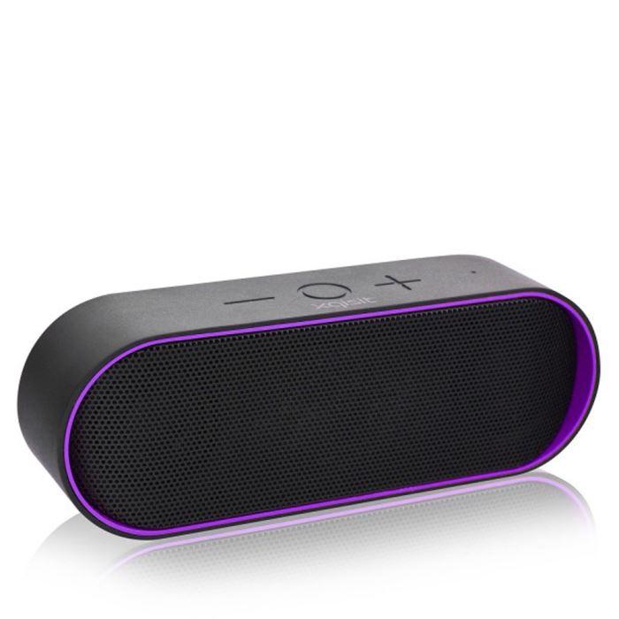 Haut parleurs Bluetooth stereo xqS10 violet enceintes bluetooth