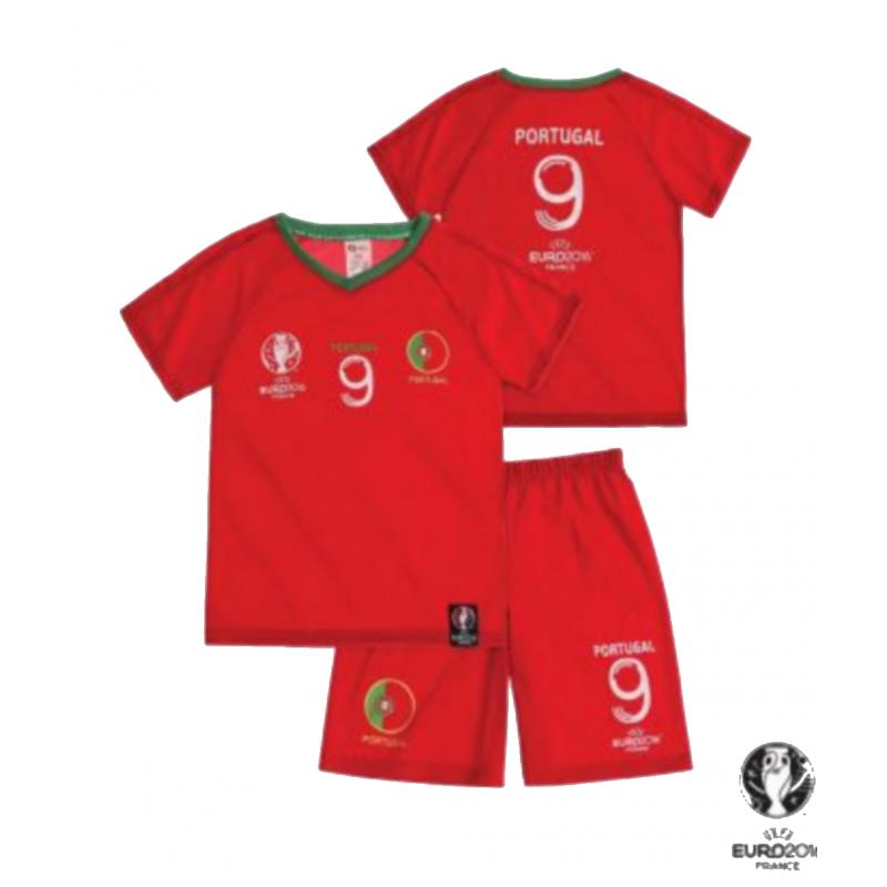 Ensemble Short Et Maillot De Foot Portugal Uefa Euro 2016 Enfant