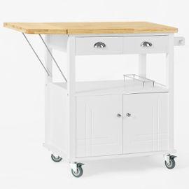 Chariot De Cuisine De Service Roulant, Plan De Travail Extensible