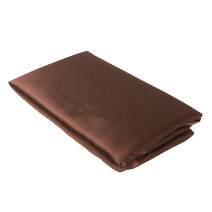Drap housse 140x190cm Satin CHOCOLAT Achat / Vente drap housse