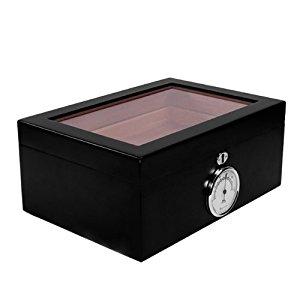 Cave a cigare vitrine 120 cigares bois noir: Cuisine