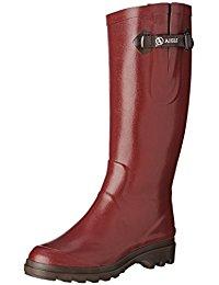 Caoutchouc Bottes et boots / Chaussures femme : Chaussures et Sacs