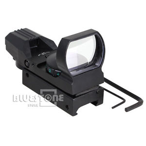 Red /Green 4 Reticle Dot Sight Projected Reflex Scope for Gun