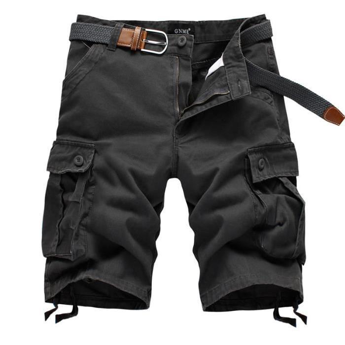 Bermuda Homme Cargo Shorts Homme Multi poches S Gris Achat