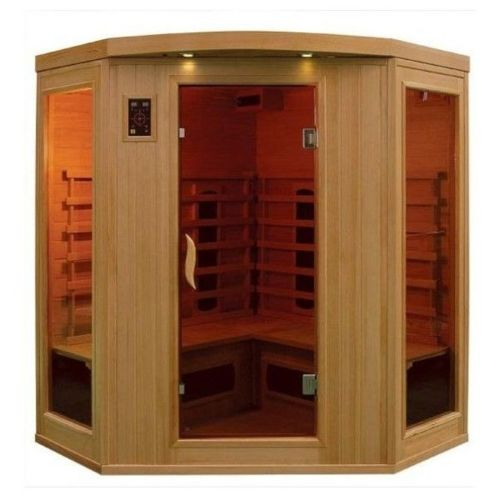 sauna infrarouge 2 places topiwall. Black Bedroom Furniture Sets. Home Design Ideas