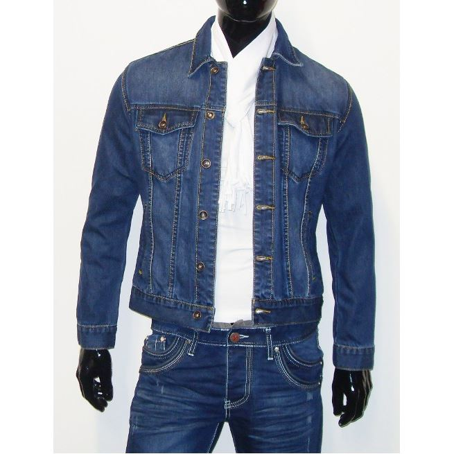 Veste jean courte homme
