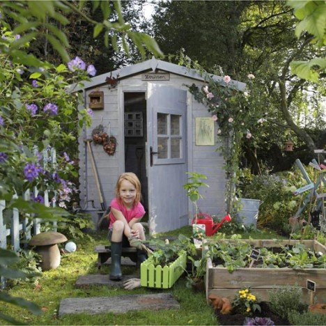 Abri de jardin bois Courtine, 3.1 m² Ep.19 mm |