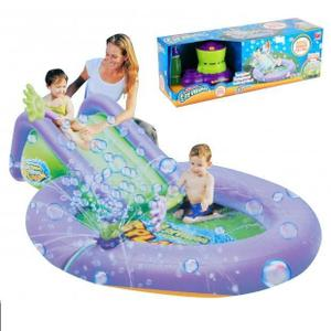 Piscine gonflable avec toboggan topiwall for Toboggan gonflable piscine