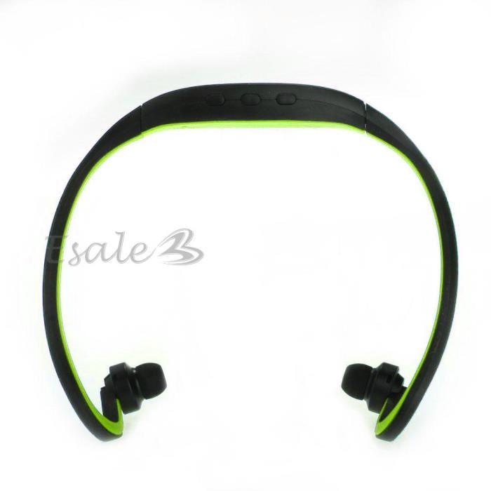 Ecouteur Casque Stéréo Bluetooth Sans Fil Tour de Cou Sport Jogging