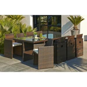 de jardin 8 places resine Achat / Vente Table de jardin 8 places