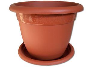 Pot de fleur 40cm incl. Dessous de terracotta Pot À Fleurs Cache pot