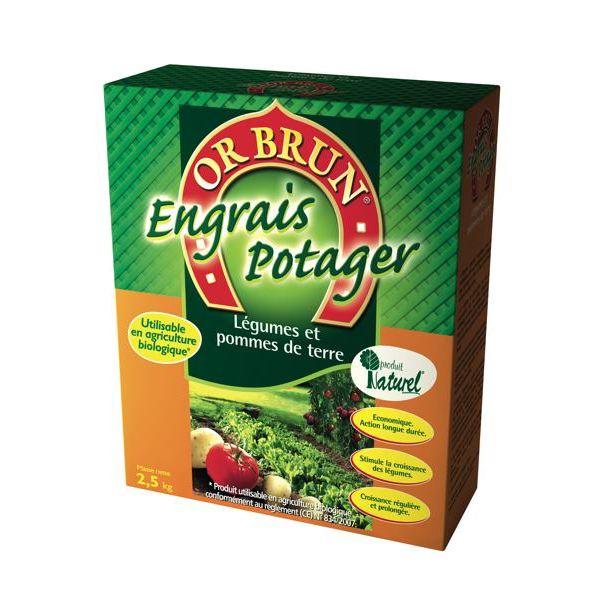 Engrais granule potager 2,5kg or brun Achat / Vente engrais Engrais