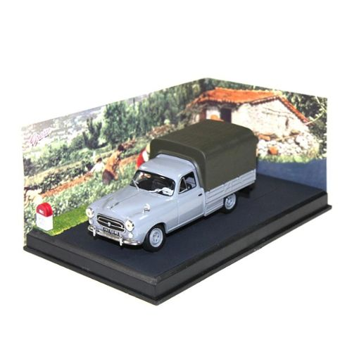 Miniature De Collection Peugeot 403 Pick Up Baché 1/43 Gris