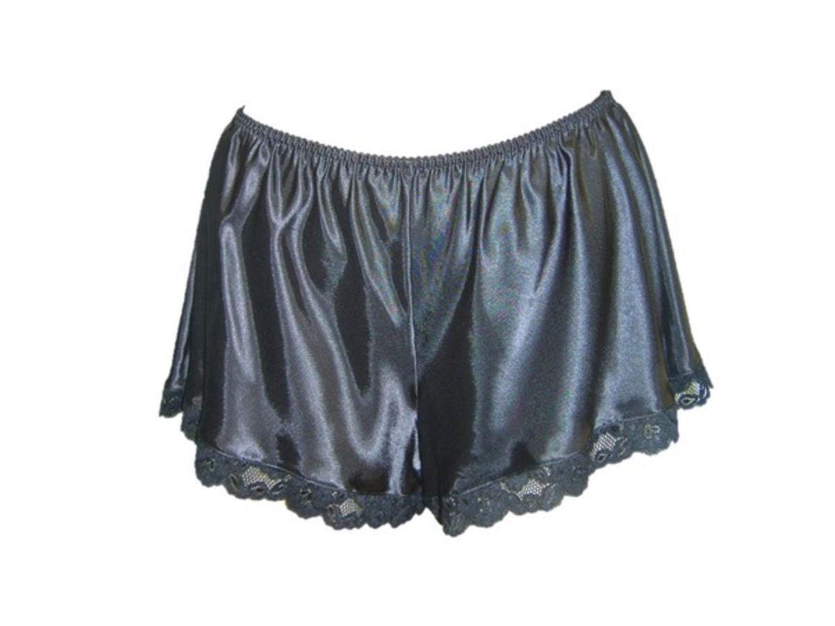 Femme dentelle francais culotte satin de soie lingerie sous vetements