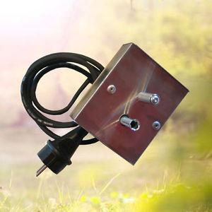 electrique tourne broche vertical 220V habillage inox pour barbecue