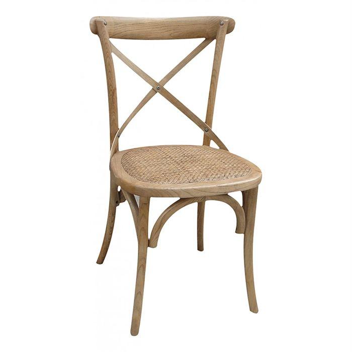 Chaise bistrot naturelle Lot de 2 Achat / Vente chaise Rotin, bois