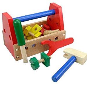 Jouet Caisse à outils en bois Jeu Imitation pour enfant 3 ans