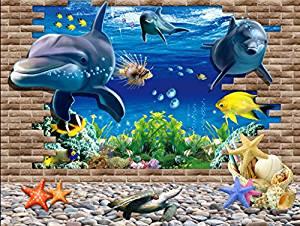 Fond marin Les dauphins sortent du mur».: Cuisine
