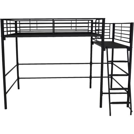 perfect alexy lit mezzanine avec plate forme xcm noir paillet alinea with lit superpos alinea. Black Bedroom Furniture Sets. Home Design Ideas