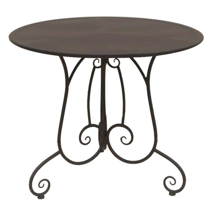 TABLE DE JARDIN FER FORGE CHARME Achat / Vente table a manger seule