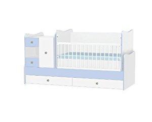 lit bébé se transforme en: bureau, armoire, lit d'adolescent