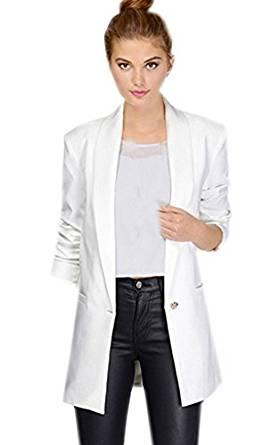 Vêtement Blazer Costume Veste Tailleur Casual Femme Col Smoking