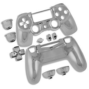Playstation DualShock 4 PS4 Chrome Silver Controller Shell Housing amp