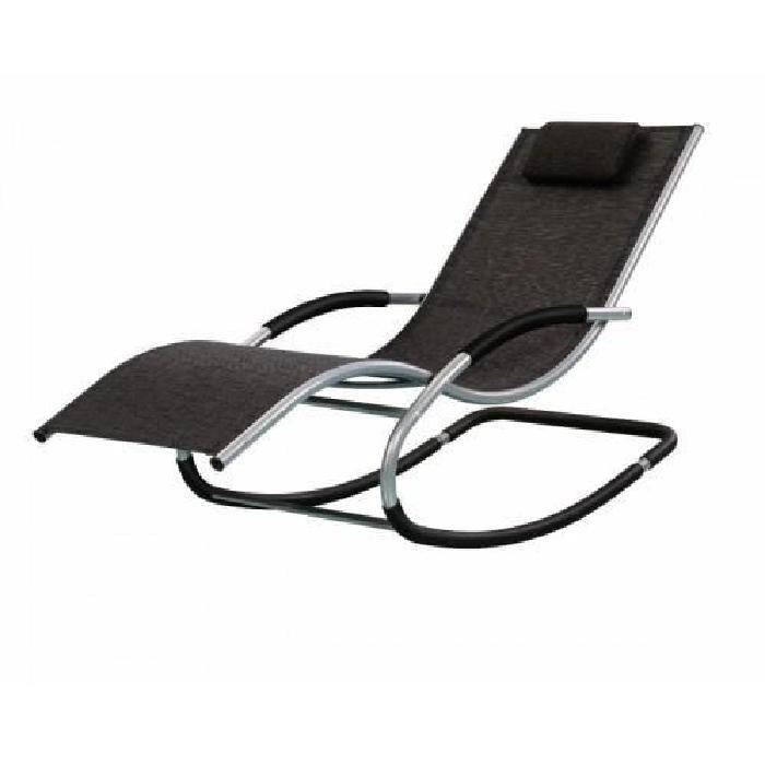 TRANSAT RIVERSIDE NOIR Achat / Vente chaise longue transat TRANSAT