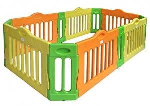 BABY VIVO BARRIÈRE PARC SECURITE ENFANT EXTENSIBLE EN FORM RECTANGLE