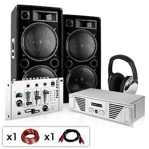 DJ PA COMPLET SYSTEME KARAOKE AMPLI SET ENCEINTES SUBWOOFER 30CM MIXER