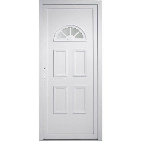 Porte d'entrée pvc Elégance PRIMO poussant droit, H.215 x l.90 cm