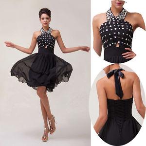 Sexy Noir robe de mariee robe de ceremonie de bal demoiselle dhonneur