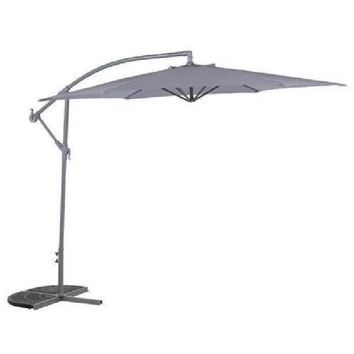 Parasol décentré Hawai 3 m. Gris cendré Achat / Vente parasol