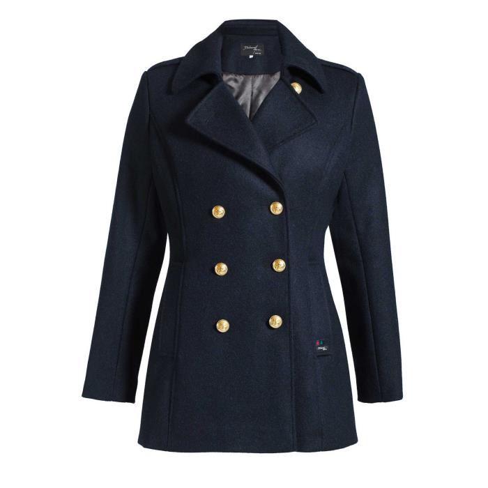 Manteau Veste Caban Femme Veste Outwear avec Ceinture WF