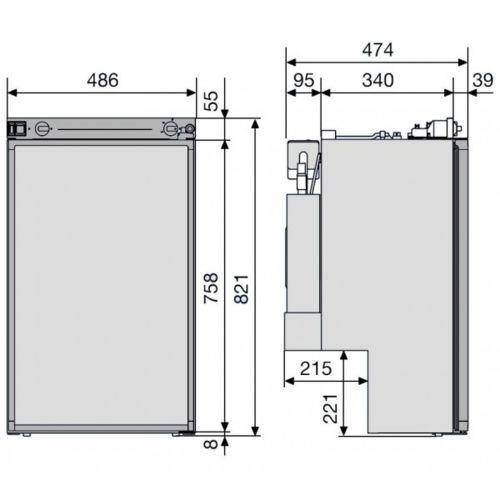 Rulquin Réfrigérateur camping car Dometic Rm5330 série 5 pas